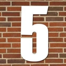Hvidt husnummer 40 cm - 5