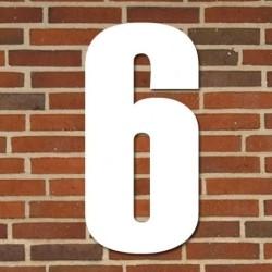 Hvidt husnummer 70 cm - 6