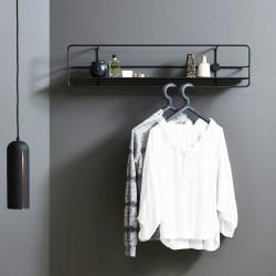 Hylde Coupé horisontal shelf - sort