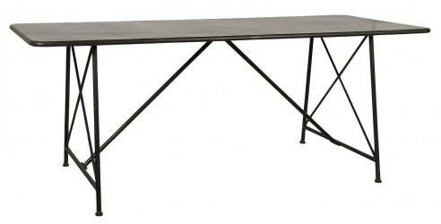 IB LAURSEN Brooklyn spisebord - sort metal, rektangulær (200x76,5)