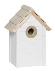 Ib laursen fuglehus hvid m/naturtag hul Ø:32 mm