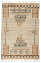Ib Laursen - Gulvtæppe m/inka mønster 180x120 cm - Jute/bomuld
