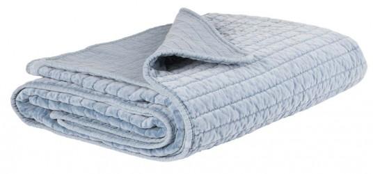Ib Laursen Quilt sengetæppe velour colonial blue