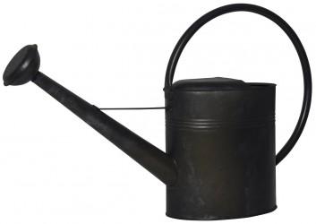 Ib laursen vandkande oval sort zink 9,5 ltr