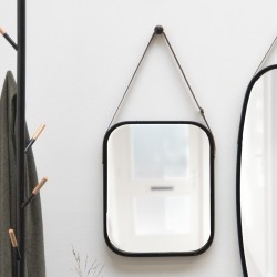 Idyllic spejl til væg i sort træramme - medium