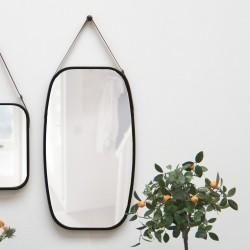 Idyllic spejl til væg sort træramme - large