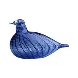 iittala Birds by Toikka blå fjäder fågel 130x85 mm