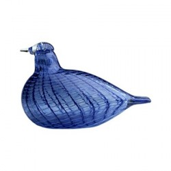 Iittala Birds by Toikka blå fjäder fågel 130x85 mm