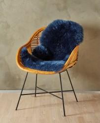 Imiteret Lammeskind - 90 x 60 cm - Blå