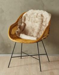 Imiteret Lammeskind - 90 x 60 cm - Meleret brun