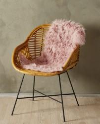 Imiteret Lammeskind - 90 x 60 cm - Rosa