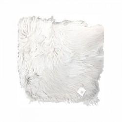 Imiteret Lammeskind - Sædehynde 40 cm - Hvid