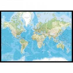 Incado pin board verdenskort (70x100 cm)