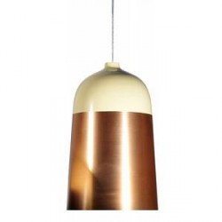 Innermost Glaze tagpendel - Ø32, Creme/Copper