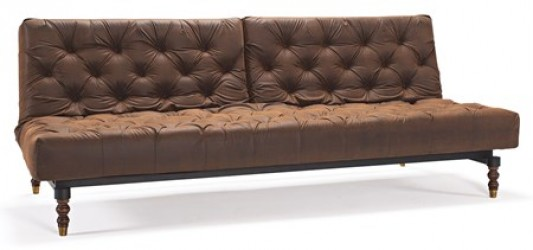 Innovation Oldschool Sovesofa - Vintage brown leather look