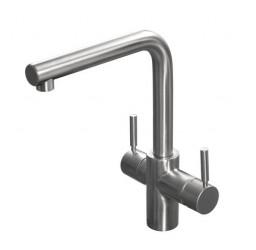 Insinkerator 3n1 Tab - Brushed Steel Kogende Vandhane