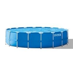 Intex poolsæt med metalramme - 24.311 liter