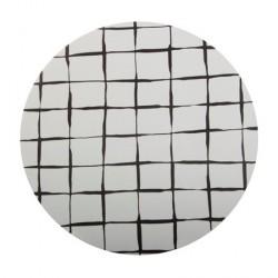 Iris Hantverk Bordskåner Birklaminat, tern, sort, rund 21cm diameter
