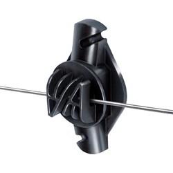 Isolator til elhegn - Klo-isolator til stålwire og polytråd - PREMIUM (25 stk)