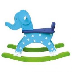 Jabadabado Gyngedyr Elefant Blå