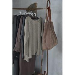 JEANNE D'ARC LIVING tøjstativ, m. hylde, kroge og hjul - vintage brunt jern