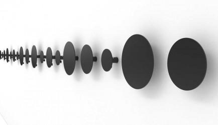 JENSENPLUS FM Hooks knagerække - sort pulverlakeret stål, m. 5 knager