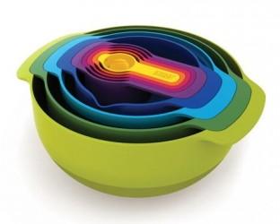 Joseph Joseph Nest 9 tiltilberedningsskålsæt med målebæger flere farver