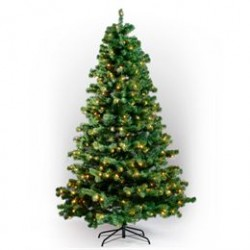 Juletræ med lys - H 180 cm
