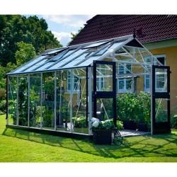 Juliana drivhus - Premium - 10,9 m² - Alu/sort