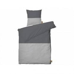 Juna Colorblock Sengetøj Light grey, Smoked pearl 140 x 200 cm