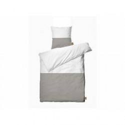 Juna Colorblock Sengetøj White, Dove 140 x 200 cm