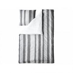 Juna Folded Stripes Sengetøj Grå 140 x 200 cm