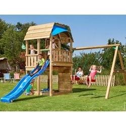 Jungle Gym Barn legetårn med gyngemodul og 2 gynger