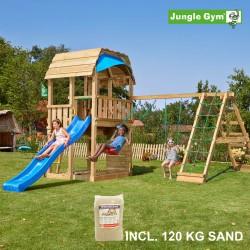 Jungle Gym Barn legetårn med klatremodul