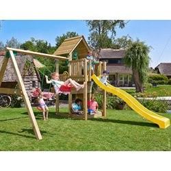 Jungle Gym Cubby legetårn med gyngemodul og 2 gynger