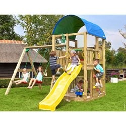 Jungle Gym Farm med Swing Module Xtra ekskl. rutsjebane