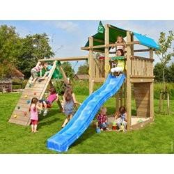 Jungle Gym Fort legetårn med klatremodul og 1 gynge