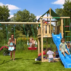 Jungle Gym Lodge legetårn med gyngemodul