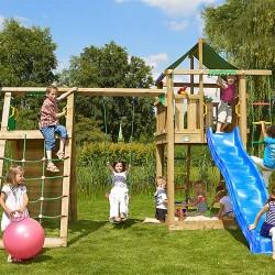 Jungle Gym Lodge legetårn med klatremodul