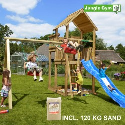 Jungle Gym Palace legetårn med gyngemodul