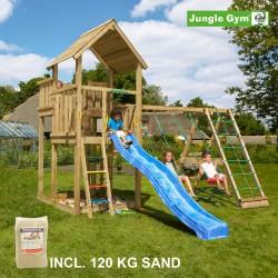 Jungle Gym Palace legetårn med klatremodul