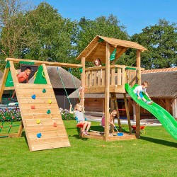 Jungle Gym Shelter legetårn med klatremodul