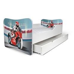 Juniorseng Motorcykel m. skuffe & madras