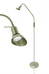 JUST LIGHT Gulvlampe Ingo Antikmessing