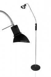 JUST LIGHT Gulvlampe Ingo Sort / Krom