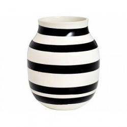 Kähler Omaggio Vase Hvid, Sort 20 cm