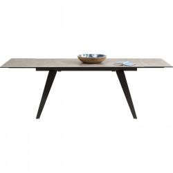 KARE DESIGN Amsterdam spisebord - lamineret glasplade m. nikkelbelagte ben, inkl. 2 tillægsplade