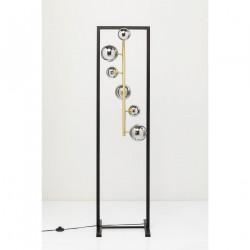 KARE DESIGN Balloon Cube gulvlampe - sølv glas og guld/sort stål