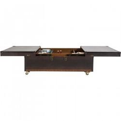 KARE DESIGN Bar Colonial sofabord - brunt plastikbelagt stof, m. hjul (120x75)