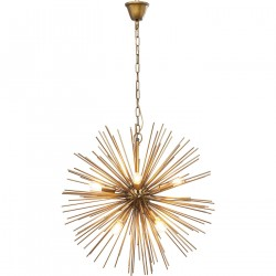 KARE DESIGN Beam Brass loftlampe - messing stål, rund (Ø72)